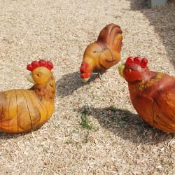 Skulptur-Huhn